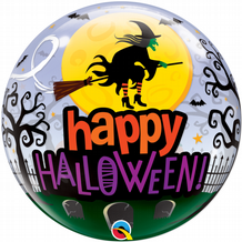 "Halloween Witch Haunting Bubble Balloon (22"") 1pc"